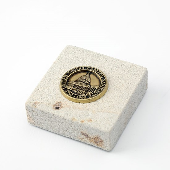 Paperweight Made from U.S. Capitol Building Sandstone