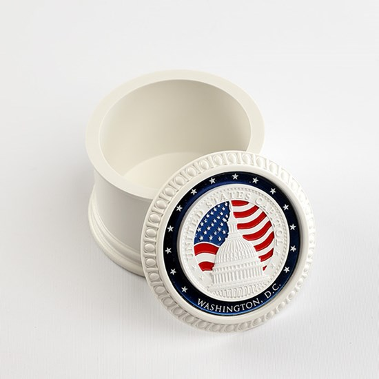 Coin Box made from U.S. Capitol Building Marble
