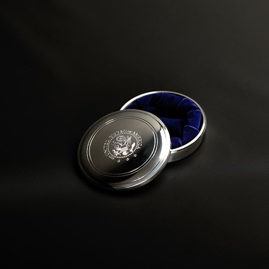 Pewter Jewelry Box with Engraved Great Seal