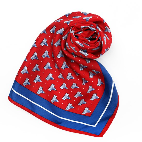 100% Silk West Front Scarf