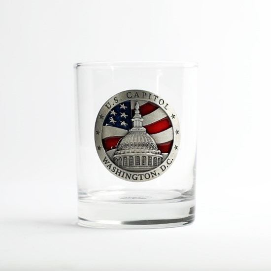 U.S Capitol Dome & Flag Old-Fashioned Juice Glass