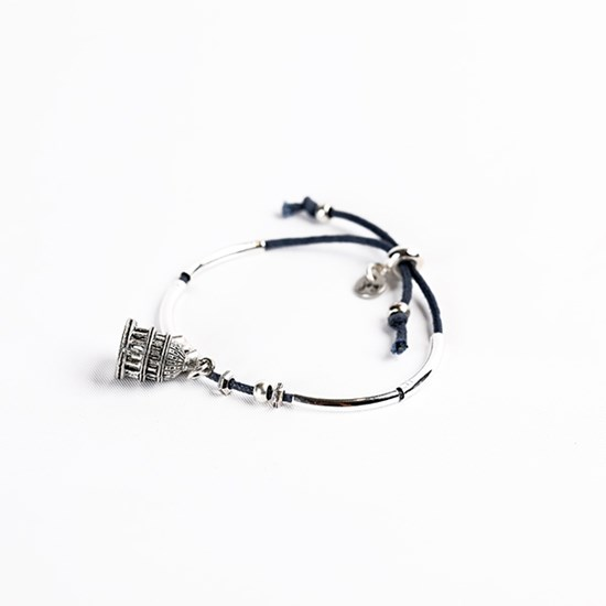 Cotton Cord Bracelet with Capitol Dome Charm