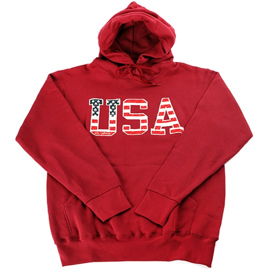 U.S.A. Applique Sweatshirt with Hood