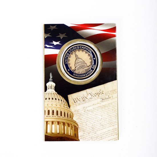 Capitol Dome and Statue of Freedom Coin Card