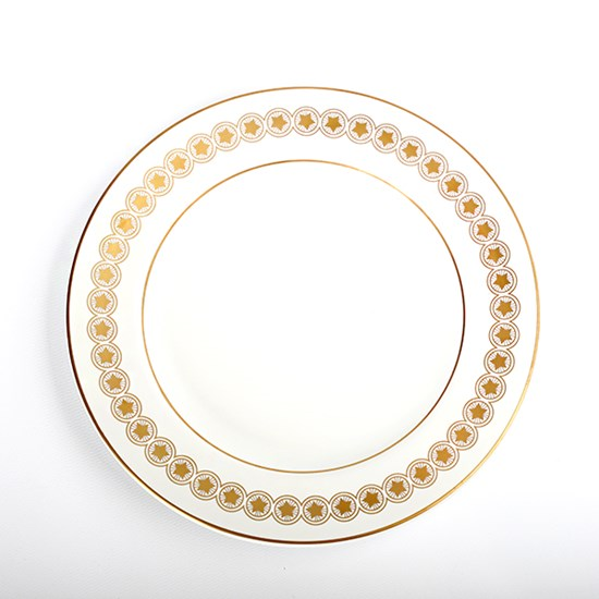 Coin Gold Star Dinner Plate