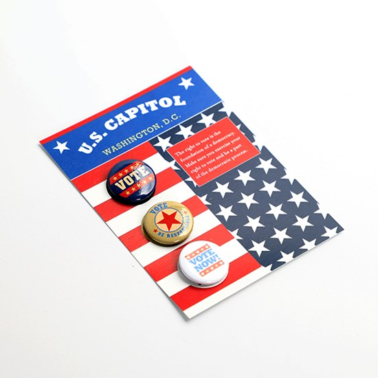Vote Buttons 3-Pack