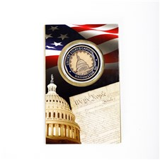 Image for Capitol Dome and Statue of Freedom Coin Card